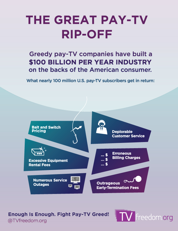 TVfreedom Infographic - Pay-TV-Greed_ Story Board